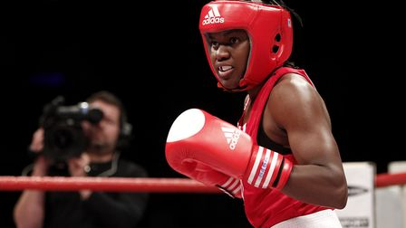 Nicola Adams in action at the Amateur Boxing Championships at the Echo Arena