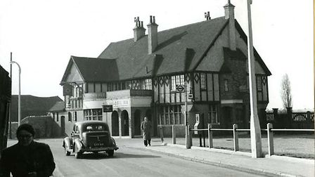 The wedding breakfast was at the Bull Inn, pictured here much later in 1953. Picture: courtesy of Va