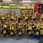 Firefighters and officers from Barking Blue Watch have smashed their fundraising target. Picture: LF