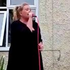 Carlie Townsend will perform a VE Day concert from her mum's back garden on Friday, May 8. Picture: