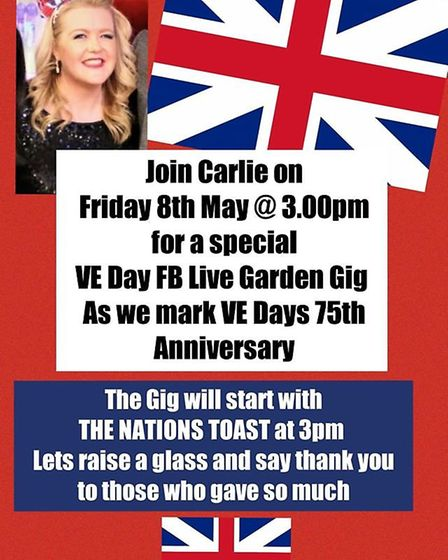 Dagenham resident Carlie Townsend is performing a special concert on May 8 to commemorate the 75th a