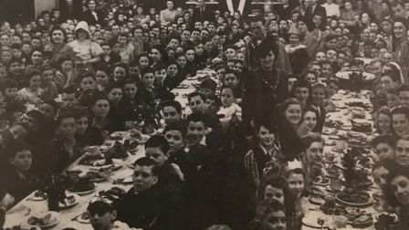 A VE Day party in Dagenham in 1945. Picture: Barking and Dagenham Archives and Local Studies Centre