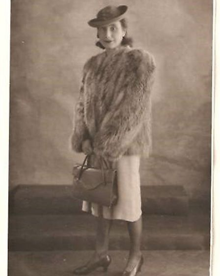 Ron's mother, Ethel Lloyd, during the Second World War. She was a dressmaker and used to model dress