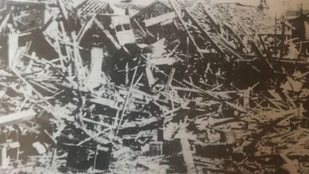 Damage from the bombing of Barking Quay. Picture: Barking and Dagenham Archives and Local Studies Ce