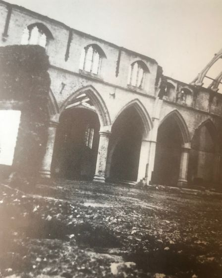 St Peter's following its bombing. Picture: Barking and Dagenham Archives and Local Studies Centre at