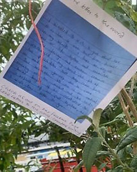 The Love Letters to the World project is one of a series of online arts activities from Boathouse Cr