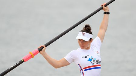 Lauren Rowles during a photocall at the Redgrave Pinsent Rowing Lake, Caversham
