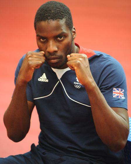 Heavyweight Lawrence Okolie at the Team GB announcement at the English Institute of Sport (pic: Rui