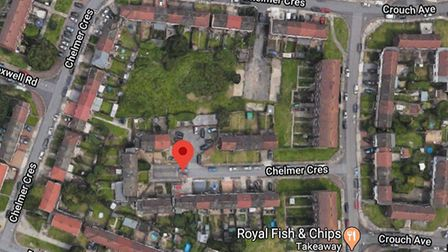 Land off Chelmer Crescent has been identified for development. Picture: Google Maps