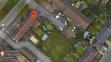 This land at the back of 134 Becontree Avenue is among the first to be identified for development. P