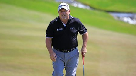Ian Woosnam in action at The Shipco Masters Promoted by Simon's Golf Club at Simon's Golf Club in Kv