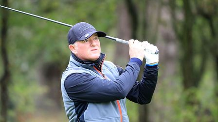 Peter Baker in action at the Farmfoods European Senior Masters at Forest Of Arden Marriott Hotel & C