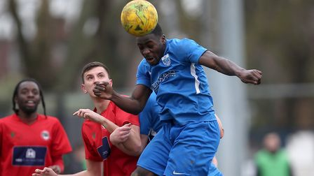 Sam Owusu of Barking during Barking vs South Park, BetVictor League South Central Division Football