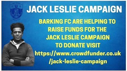 The Jack Leslie Campaign is raising funds to build a statue of the former Barking and Plymouth Argyl