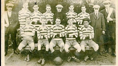 A team photograph taken in about 1920. Picture: Barking FC