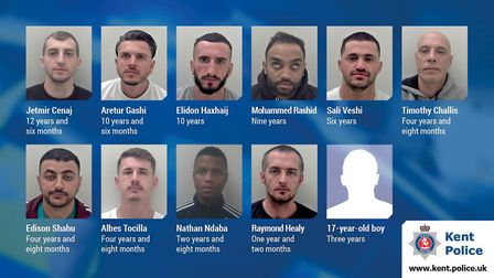 Eleven men who formed the 'Dave' county lines drug dealing gang have been jailed. Picture: Kent Poli