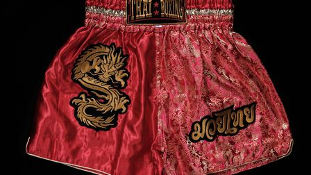 Boxing shorts photographed by Lewis Inman. Picture: Lewis Inman