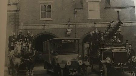 The fire station used to be based behind the public office. Picture: LBBD Archives/Valence House