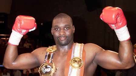 Danny Williams with British & Commonwealth heavyweight title belts after he defeated Julius Francis