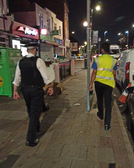 Police and council officers joined forces to shut the illegal party down. Picture: LBBD