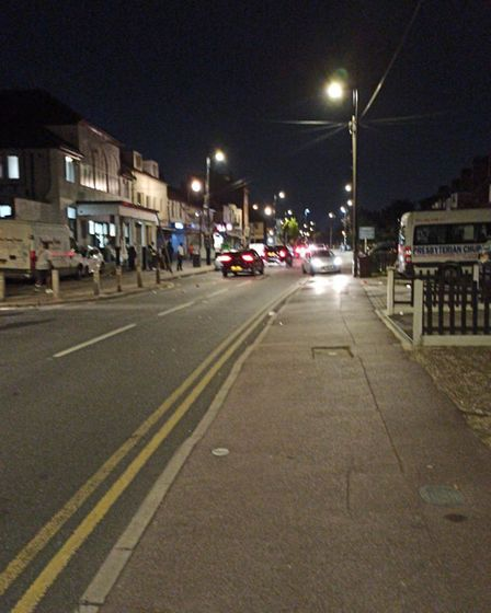 Broad Street after the party was shut down and revellers left. Picture: LBBD