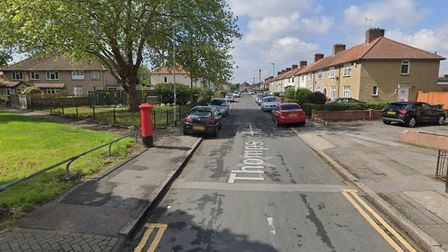 A man was found with stab injuries in Thompson Road, Dagenham. Picture: Google Maps