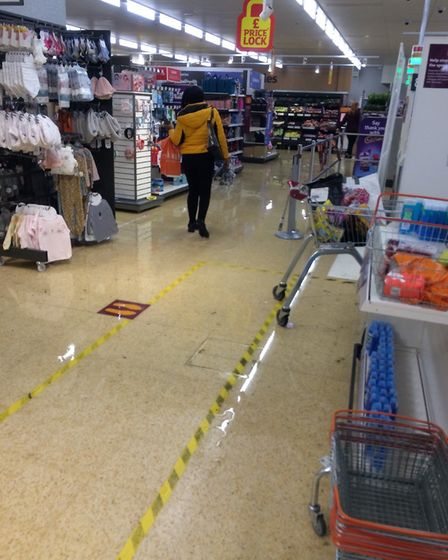 Shoppers in Sainsbury's in Chadwell Heath were faced with flooded aisles yesterday (August 16). Pict