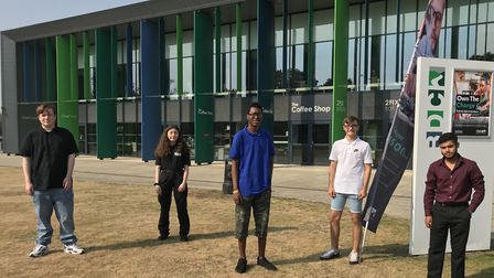 Barking and Dagenham College pupils are celebrating receiving their BTEC results today. Picture: Bar