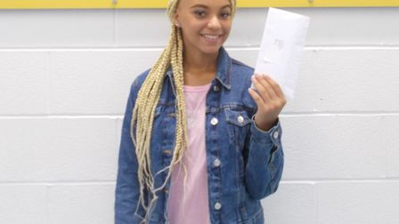 Reanna Nelson achieved five 9-7 grades. Picture: Paul Frith / Eastbrook School