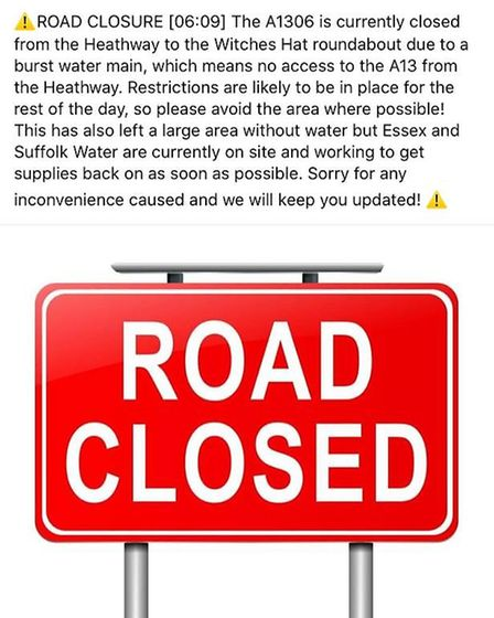 The council reported homes saw supplies cut off but Essex and Suffolk Water said it had not received