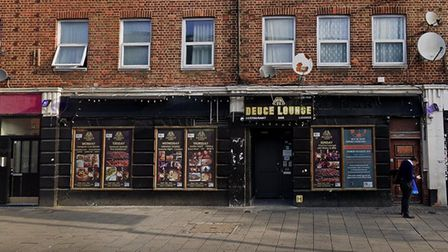 The Deuce Lounge in London Road, Barking, was accused of holding a party with no social distancing.