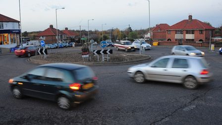 The Heartsease roundabout. PHOTO BY SIMON FINLAY