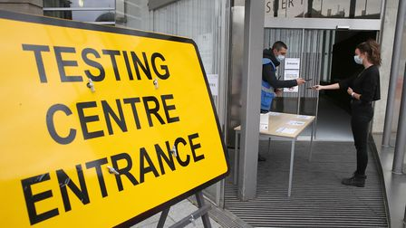 Coronavirus testing centre. Only 12pc in the EDP survey had been tested. Picture: Andrew Milligan/PA
