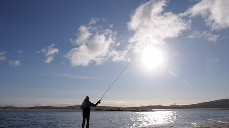 John Bailey fishing the pristine waters of North Uist Picture: John Bailey