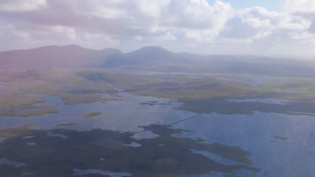 North Uist shots from the air. An island more of water than land Picture: John Bailey