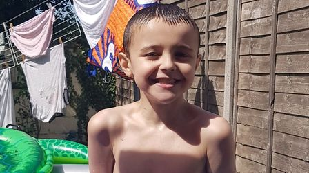 Nine-year-old Liam Hills, son of Sarah Hills. lost his battle to cancer on September 2, 2020. Photo: