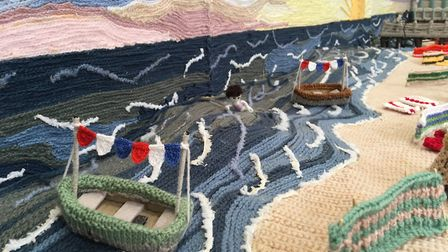 A detail from knitted Yarmouth Picture: Daniel Hickey.