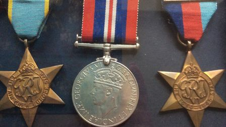 The three medals earned with the 419 Squadron of the Royal Canadian Air Force by Arthur George Vicke