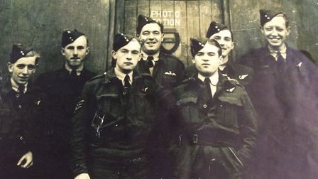 Arthur George Vickers, with colleagues. Picture: Courtesy of the Vickers family
