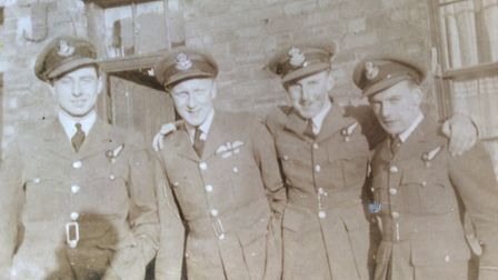 Arthur George Vickers, with other members of the 419 Squadron of the Royal Canadian Air Force. Pict