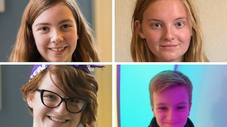 The new Norfolk Youth Parliament members, from clockwise from top left, Alice Galley, April Haywood,