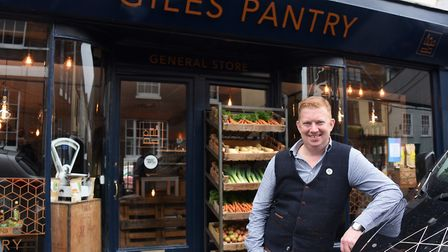 Owner Alan Sabol at the St Giles Pantry, a coffee shop with local produce for sale. Picture: DENISE