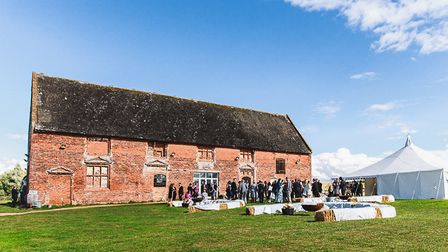 Godwick Great Barn near Fakenham hosted a wedding celebration, only 72 hours after meeting the coupl