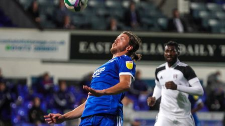 Emyr Huws, in action against Fulham. He struggled to get into the game in the first half, as did his