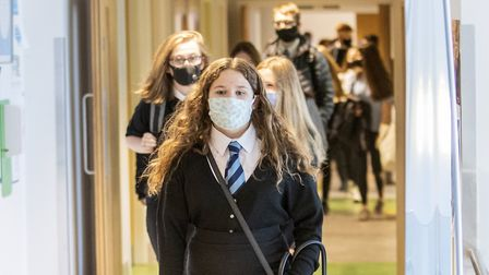 Schools are being advised to enforce the use of face coverings in communal areas. Picture: Jane Barl