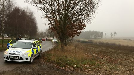 Police attend a previous Easton Harriers' hunt at Wantisden Picture: ARCHANT