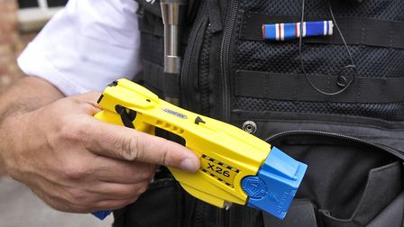 Police used a taser during the incident in Bury St Edmunds. Picture: PA IMAGES