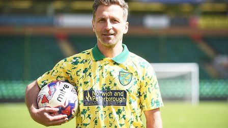 Norwich City legend Darren Eadie, the current joint manager at Leiston. Picture: IAN BURT