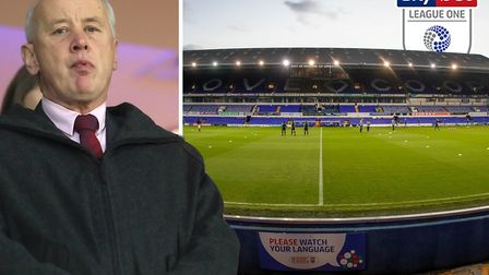 Rick Parry has insisting halting the League One season would be 'absolutely the last resort'. Pictur