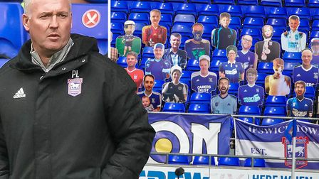 Paul Lambert has warned his players not to get too comfortable playing in front of empty stands. Pic